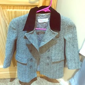 Boys 5t wool coat gray